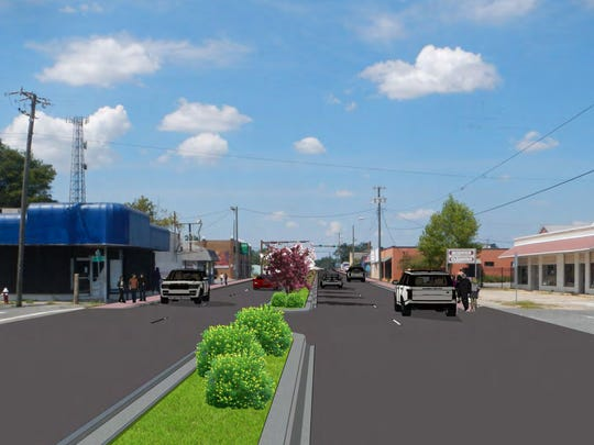 This rendering of proposed improvements to West Cervantes Street including a landscaped median and widened sidewalks is part of the the West Cervantes Street Corridor Management Plan being developed by the West Florida Regional Planning Council.