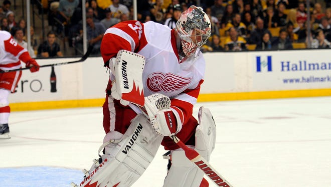 Red Wings goalie Jimmy Howard had a 2.13 goals-against average and .923 save percentage last season.