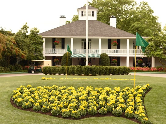 The clubhouse at The Masters Golf Tournament at Augusta National Golf Club, as sure a sign of spring as those first crocuses.