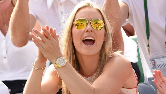 Lindsey Vonn attends day seven of the Wimbledon Tennis Championships at Wimbledon on July 6, 2015.