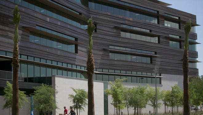ASU's planned project would be one of several buildings already part of the Phoenix Biomedical Campus, including the University of Arizona's Health Sciences Education Building that is pictured here.