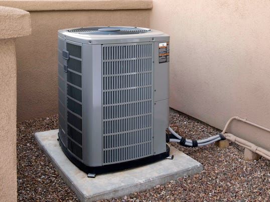 Air conditioner vulnerable to storm damage