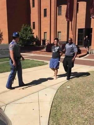 Suspected gunman in custody at Mississippi State University.
