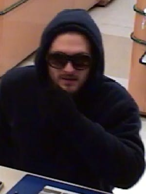 Police released images of a man they said robbed a Middletown bank Monday evening.