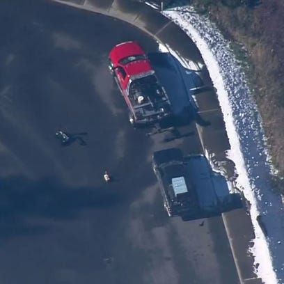 This image, taken from KING-5, shows the vehicle stopped
