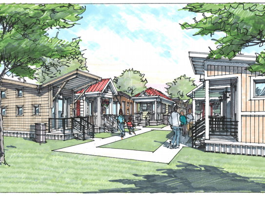 A rendering shows the Village at Glencliff planned