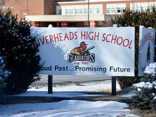 Riverheads' Gladiators Logo on Sign