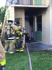 Brevard County Fire Rescue personnel converged on a