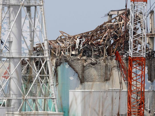 This May 26, 2012, file photo shows the unit 3 reactor building of the Tokyo Electric Power Co.'s Fukushima Dai-Ichi nuclear power plant in Okuma in Fukushima prefecture, northern Japan. TOMOHIRO OHSUMI/AFP/Getty Images