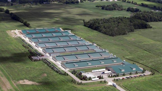 Herbrucks' organic egg operation in Saranac, MI
