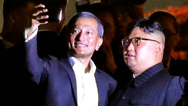 North Korean leader Kim Jong Un and Singapore Foreign