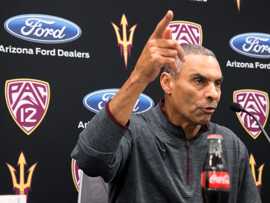 ASU head football coach Herm Edwards talks about ASU's