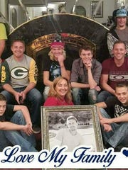 Leona Bateman and some of her children. The framed