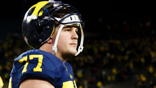 Michigan offensive lineman Taylor Lewan, a top NFL prospect, recently was questioned in relation to an alleged Nov. 30 assault.