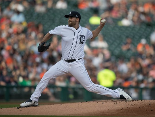 Detroit Tigers' Matt Boyd pitches against the Baltimore