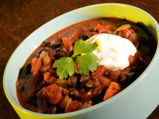 Chili made in a slow-cooker, is a perfect quick-and-easy