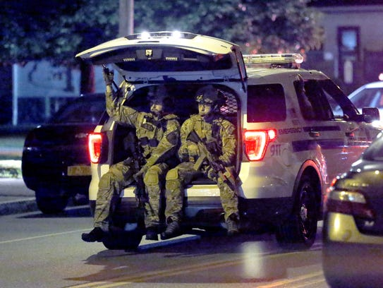RPD's tactical unit on scene at Clifford Avenue near