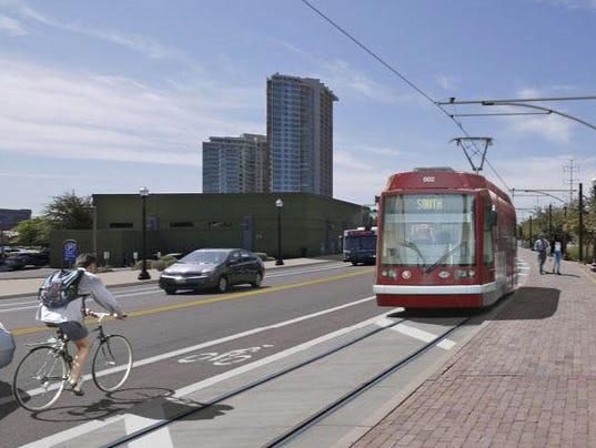 Tempe streetcar rendering