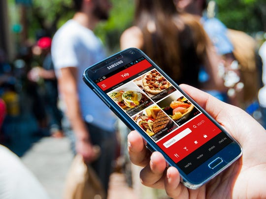 Yelp helps you find businesses near you, via your device's GPS, and lets you read reviews from others before you go.