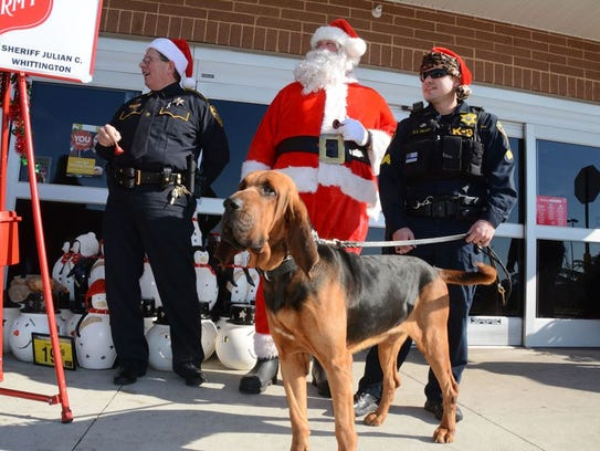 Bossier Sheriff's Office deputies at last year's Red
