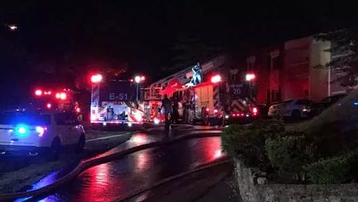 One man is dead in an overnight apartment fire on Kings Run Drive in Spring Grove Village, Cincinnati firefighters said.
