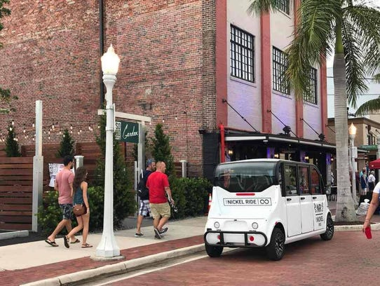 The Nickel Ride, shown here in downtown Fort Myers,