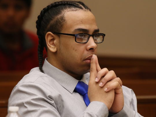 Johnny Blackshell during his first-degree murder trial in 2016.
