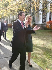 Governor Andrew Cuomo, with his girlfriend, Sandra