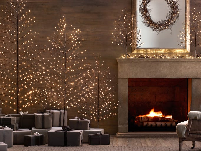 In a most modern decor, a grouping of warm starlit