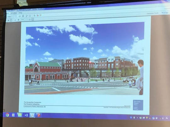 A rendering shown during the May 23 council meeting of a new supermarket and apartments that could potentially be built at Lackawanna Plaza.