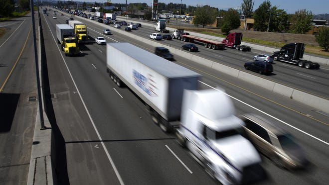 Two U.S. senators have introduced a bill that would electronically limit tractor-trailer speeds to 65 miles per hour.