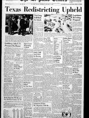 The front page that ran on Jan. 6, 1966.