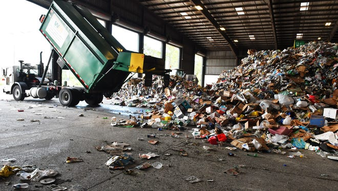The Waste Management Recycling Brevard plant in Cocoa is constantly dealing with tons of the wrong materials being placed in recycling bins and cans, which results in costly measures, including having to shut down operations while crews have to clear out plastic bags, ropes, metal parts, and much more.
