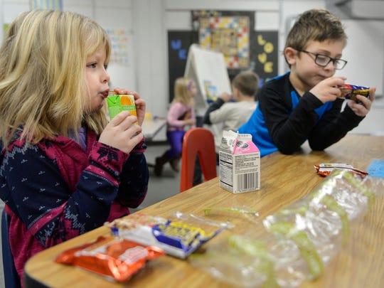 Pleasantview Elementary School kindergartners Evelyn