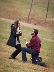 Dana and Stewart Hargrove's engagement at Veritas Vineyard