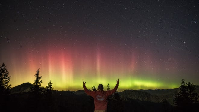 This picture, by Salem photographer Jeff Green, showcases the aurora seen in Oregon on Wednesday night.