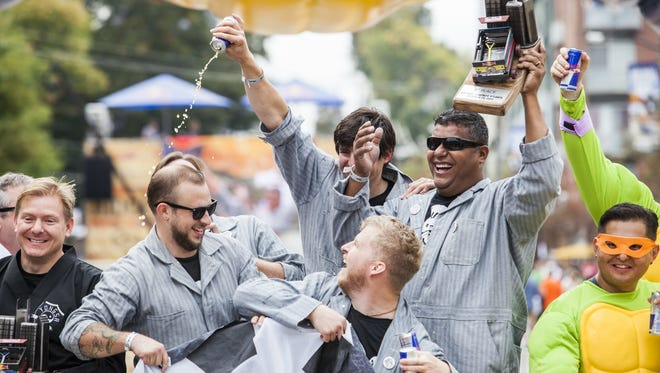 Greenville's Grease Monkeys won first place in the national 2015 Red Bull Soapbox Race held in Atlanta.