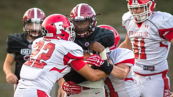 Asheville High travels to Franklin on Friday in the football season opener for both teams. Last year, Franklin defeated Asheville High 33-8.