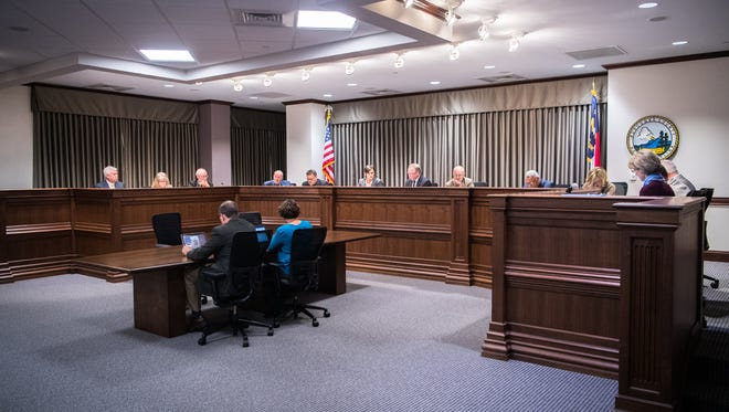 Buncombe County commissioners meet Tuesday, Oct. 17, 2017.