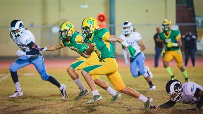 The Coachella Valley varsity football team will return some key starters to mix with a young crop of players who appear to have a high level of collective talent.