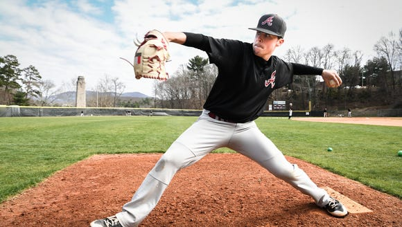 Asheville high school junior, Graham Hooker, pitcher