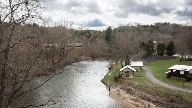 The North Toe River,  which runs through Spruce Pine, seen here in a photo taken earlier this year, suffered two water pollution spills this week.