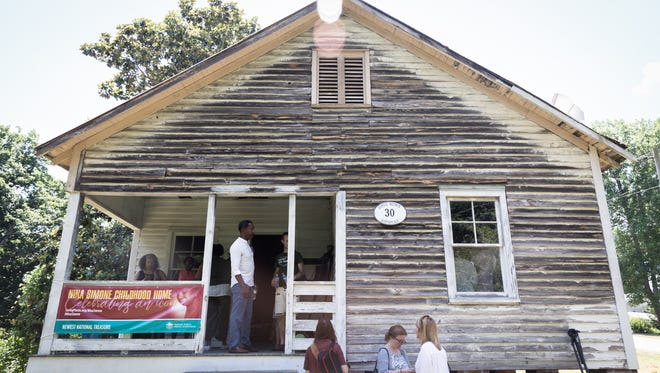 """Nina Simone's childhood home in Tryon. The 88-year-old home was designated a """"National Treasure"""" by the National Trust for Historic Preservation Tuesday, June 19, 2018. The organization plans to develop and implement a plan to use the property it calls """"deteriorating yet nationally significant."""""""