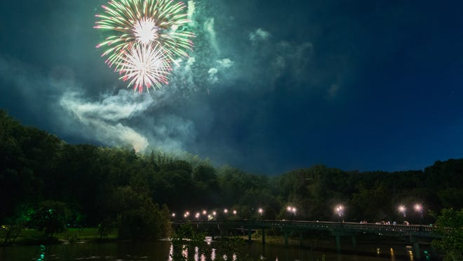 Marshall celebrated 2018's 4th of July with a fireworks display for the first time in several years.
