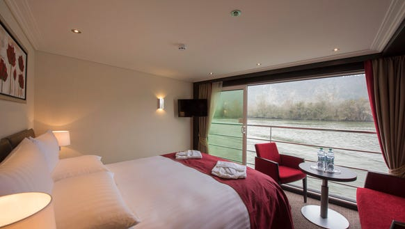 The most common category of cabin on Avalon Waterways'
