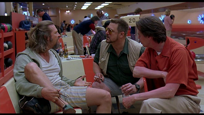 """A scene from 1998's """"The Big Lebowski,"""" the inspiration for Louisville's Lebowski Fest, with, left to right, Jeff Bridges, John Goodman and Steve Buscemi."""