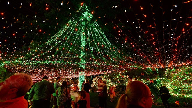 The Guinness World Record for Christmas lights goes to homeowner David Richards in Canberra, Australia. His home, shown on Nov. 24, has more than 500,000 lights.