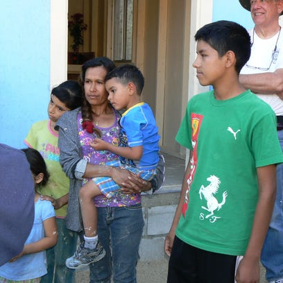 The Mexican family getting help to build their house