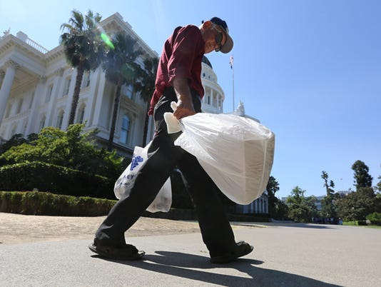 California lawmakers pass first U.S. plastic bag ban