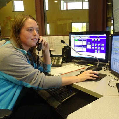 Jessica Young, a dispatcher in the Crawford County